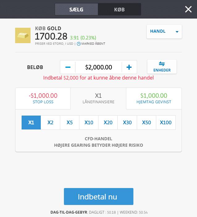 køb eller sælg guld